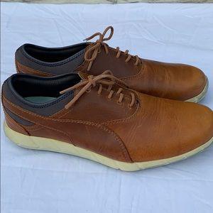 Men's puma golf shoes brown leather men's US11